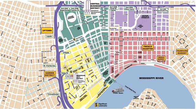 New Orleans On Map
