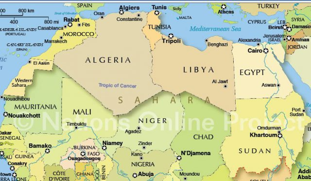 North Africa Map