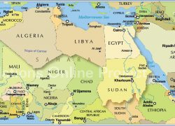 North Africa Map: North africa map from nationsonline 1