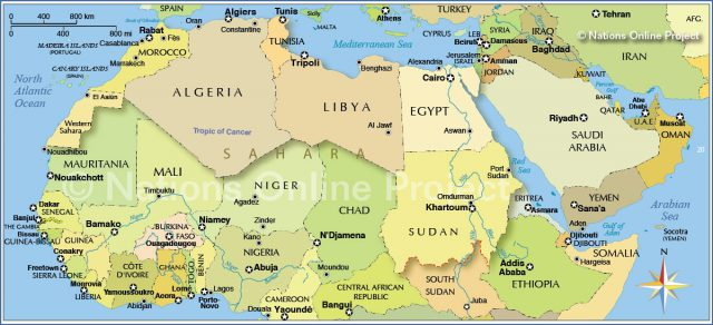 North africa map from nationsonline 1