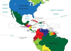 North and south america map from colourbox 4