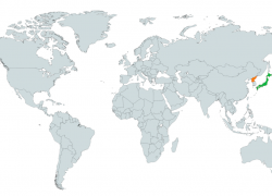 North korea on world map from en 4