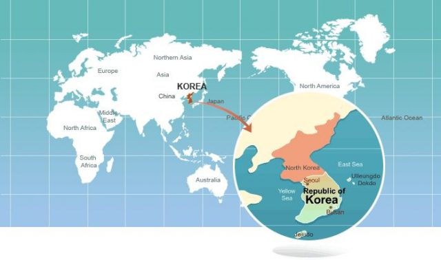 North Korea On World Map