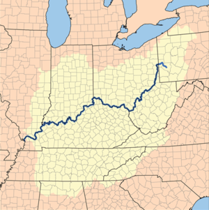 Ohio river on us map from en 1