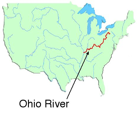Ohio River On Us Map
