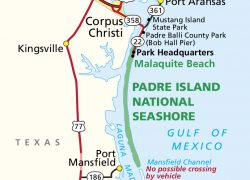 Padre island map from npmaps 6