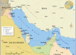 Persian Gulf On World Map: Persian gulf on world map from nationsonline 2