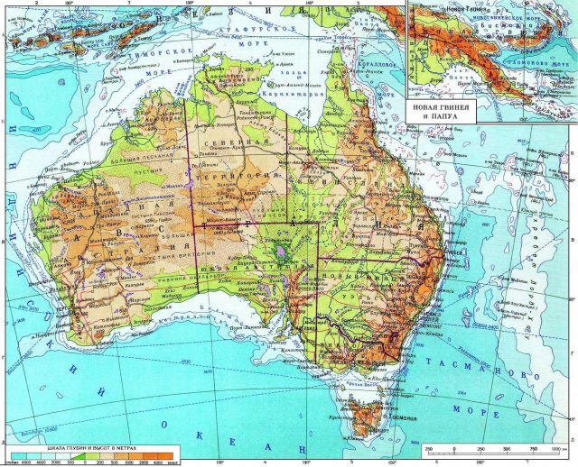 Physical Map Of Australia