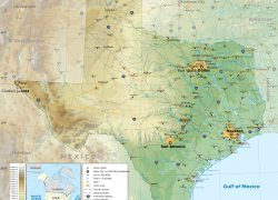 Physical map of texas from vidiani 2