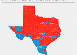 Political map of texas from fivethirtyeight 7