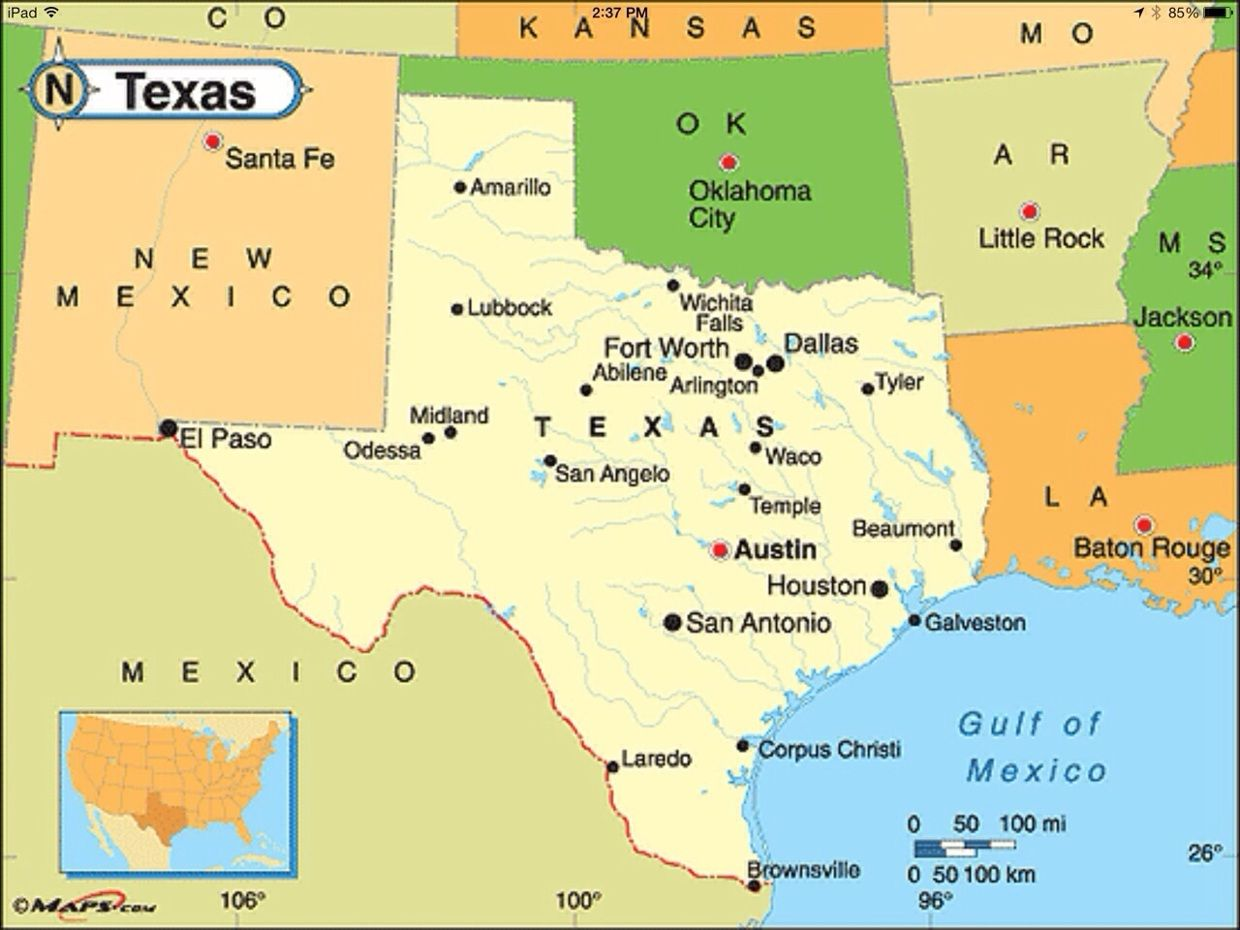 Political Map Of Texas From Pinterest 10