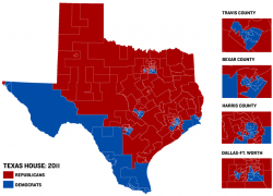 Political map of texas from texastribune 8