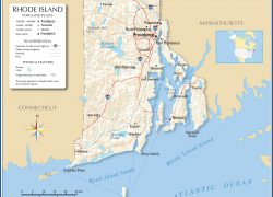 Rhode Island Map: Rhode island map from nationsonline 1