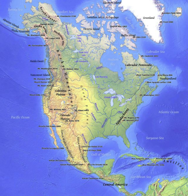 Rocky Mountains On World Map