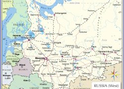 Russia map from nationsonline 8
