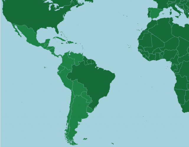 Spanish speaking countries map from online 1