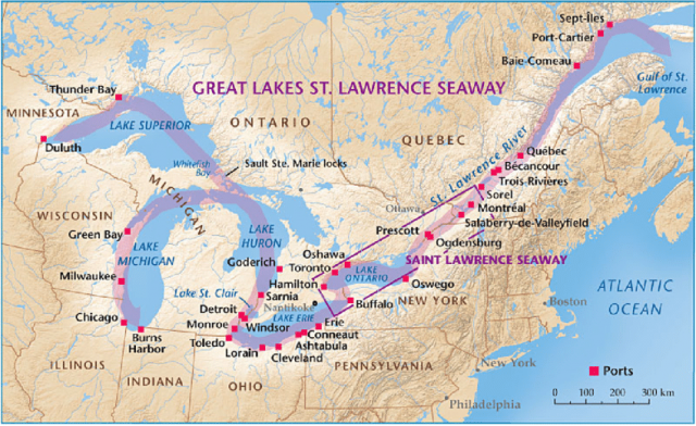 St lawrence river map from researchgate 1