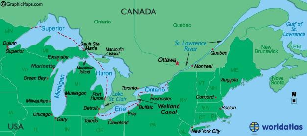 St lawrence river on us map from pinterest 1