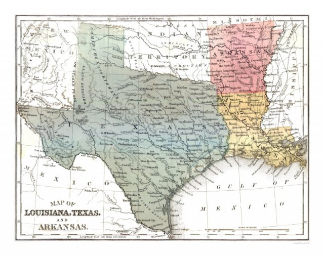 Texas And Louisiana Map