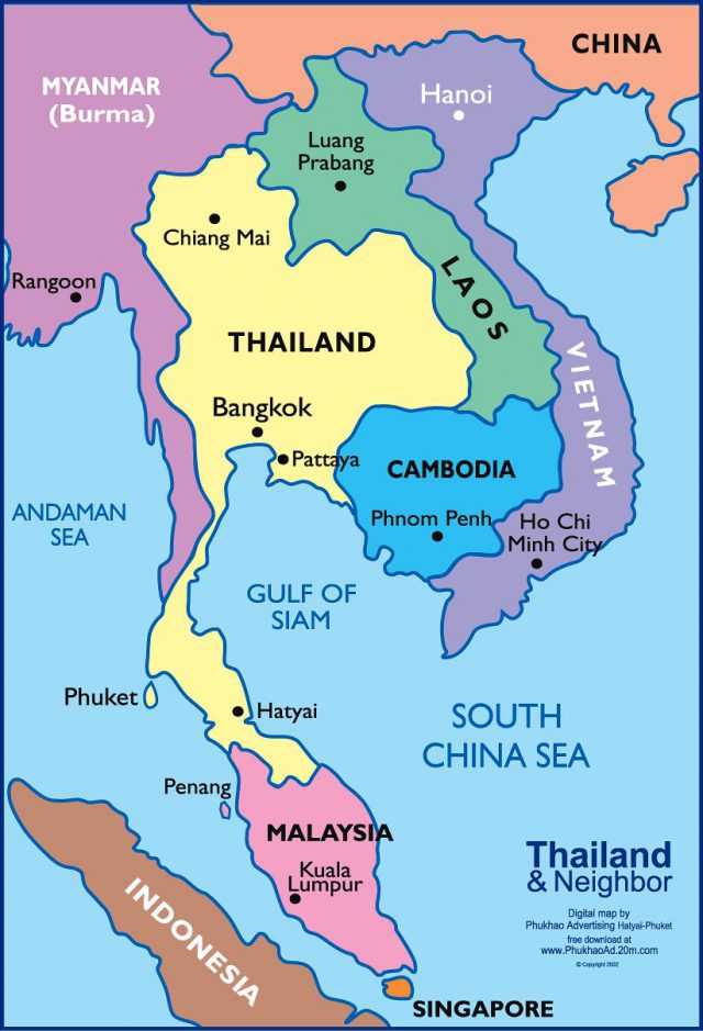 Thailand On A World Map