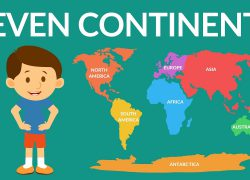 The 7 continents map from youtube 9