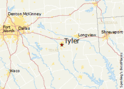 Tyler texas map from bestplaces 8