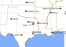 Tyler texas map from city data 7