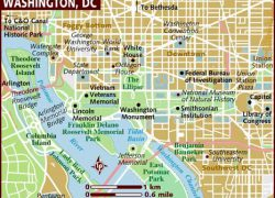 Washington dc map from lonelyplanet 5