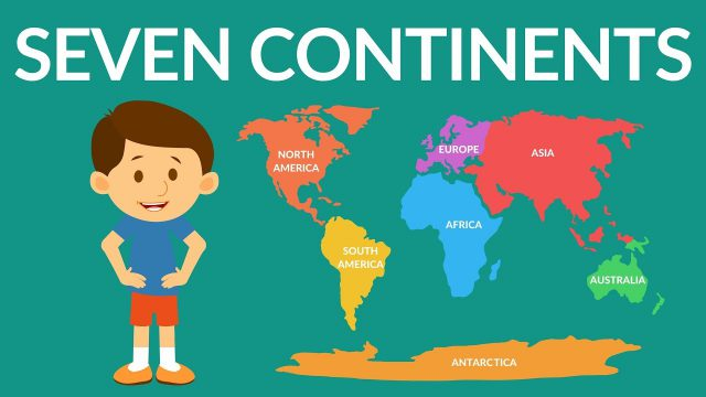 World Map 7 Continents
