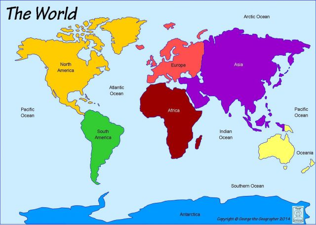 World Map Continents