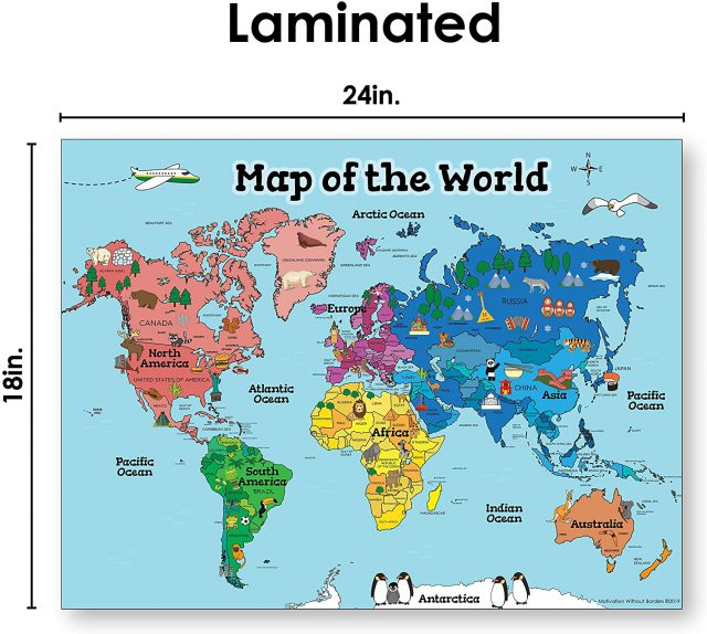 World Map For Kids