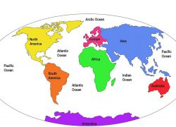 World map labeled oceans from pinterest 5