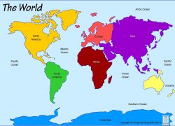World map labeled oceans from pinterest 9
