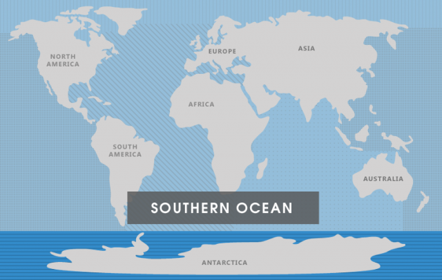 World Map Southern Ocean