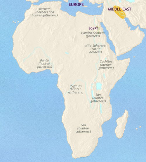 Ancient Africa Map
