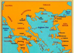 Ancient Greece Map: Ancient greece map from pinterest 1