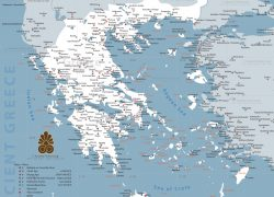 Ancient Greek Map: Ancient greek map from ancient greece 1