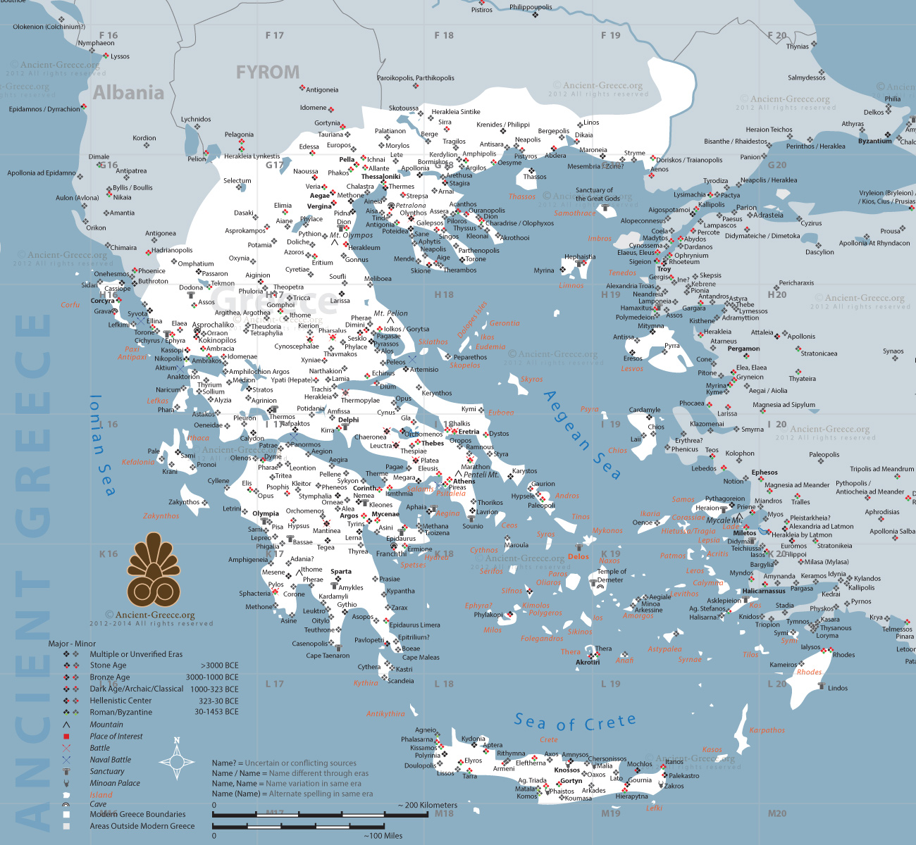 Ancient Greek Map From Ancient Greece 1