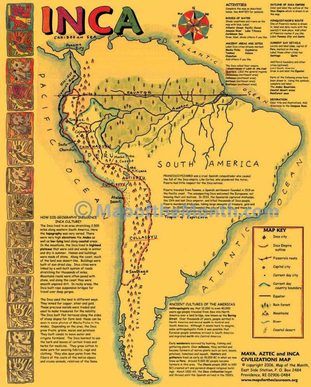 Ancient Inca Map