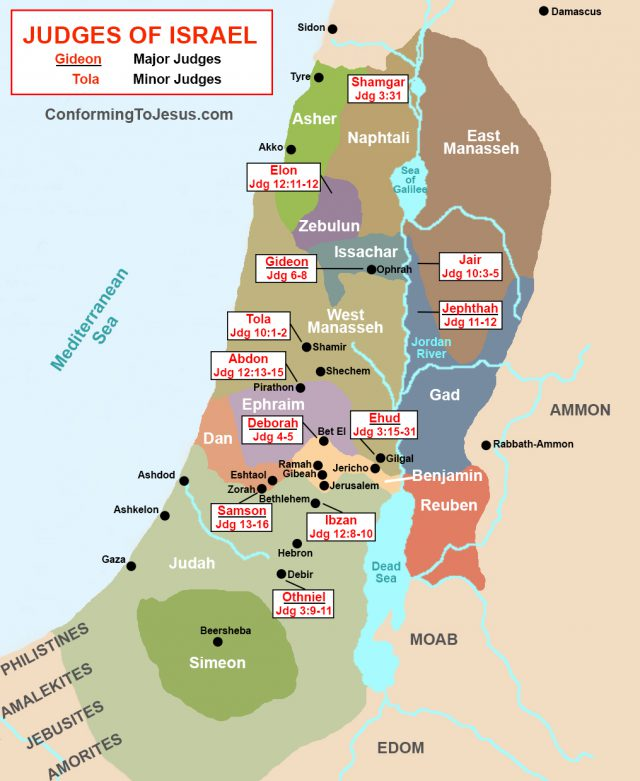 Ancient israel map from conformingtojesus 1