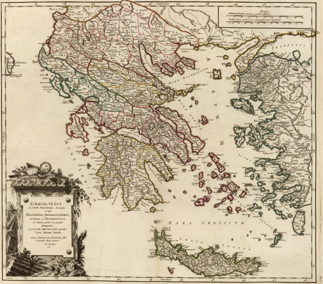 Ancient Map Of Greece