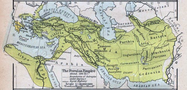 Ancient persia map from en 1