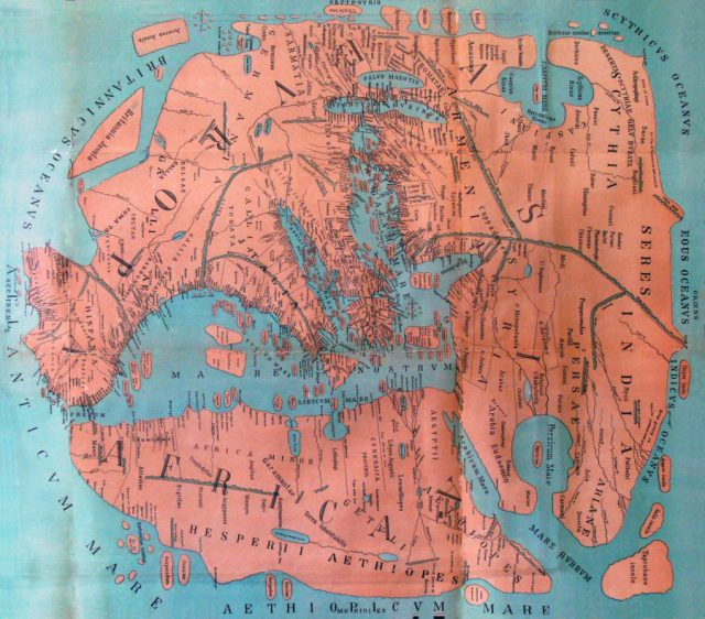 Ancient roman map from openculture 1
