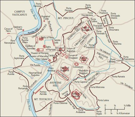 Ancient rome city map from pinterest 1