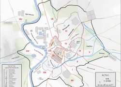 Ancient rome city map from romemap360 4