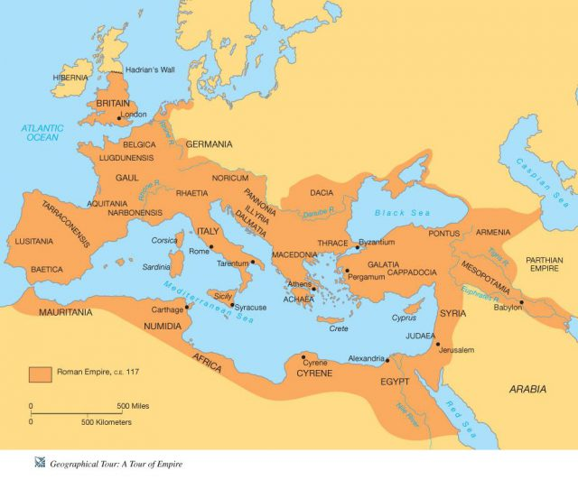 Ancient Rome Map