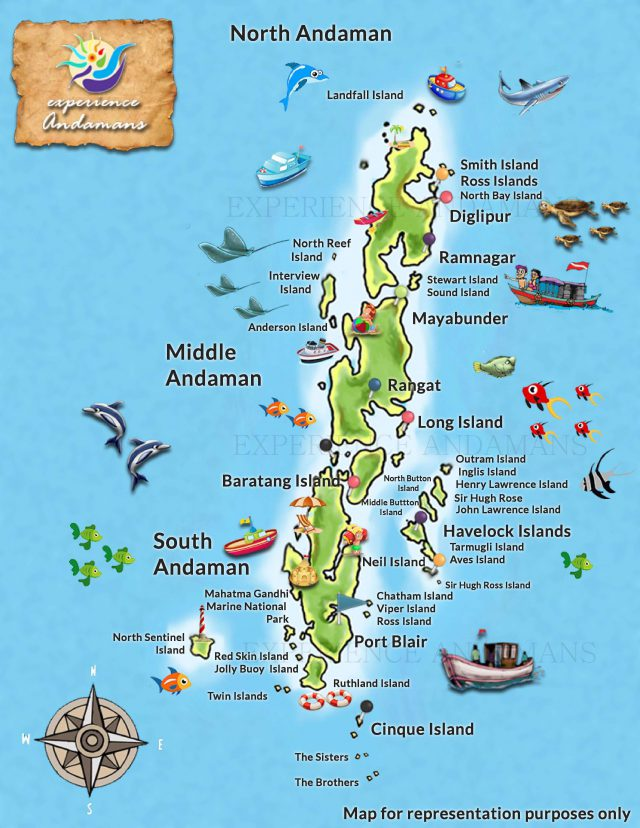 Andaman and nicobar islands map from experienceandamans 1