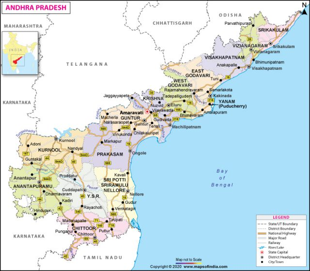 Andhra pradesh map from mapsofindia 1