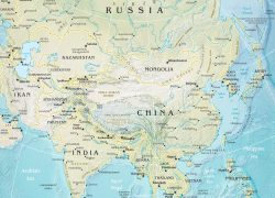 Asia Physical Map: Asia physical map from geographicguide 1