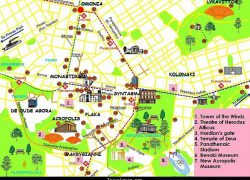 Athens Tourist Map: Athens tourist map from pinterest 1
